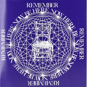 The cover of the book Be Here Now by Ram Dass